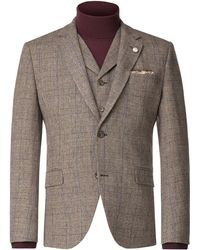 Gibson - Men's Fawn Check With Blue Overcheck Jacket - Lyst