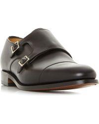Barker - Tunstall Toecap Double Monk Shoes - Lyst