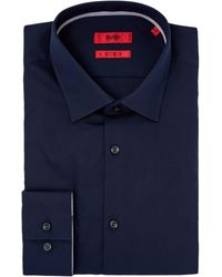 HUGO - Koey Slim Contrast Trim Poplin Shirt - Lyst