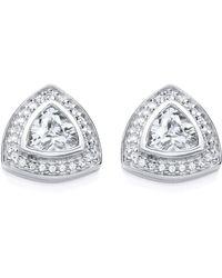 Bouton - Large Stone Trillion Earrings - Lyst