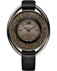 Swarovski | Women's Black-tone Crystalline Fabric Strap Watch 43mm | Lyst