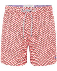 Ted Baker - Men's Caven Rectangle Geo Print Swim Shorts - Lyst