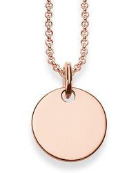 Thomas Sabo - Gold Disk Love Bridge Necklace - Lyst