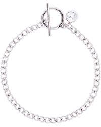 Karen Millen   Quantum Silver Crystal T-bar Bracelet   Lyst