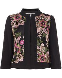 Tahari - Embroidered Floral Print Jacket - Lyst