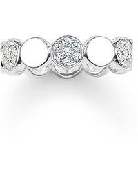Thomas Sabo | Sparkling Circles White Pave Silver Ring | Lyst