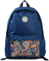 Pretty Green - Nylon Backpack With Paisley Pocket - Lyst