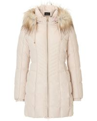 Betty Barclay - Quilted Coat With Hood - Lyst