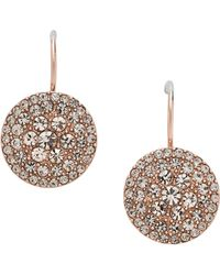 Fossil - Jf00135791 Ladies Rose Iconic Glitz Earrings - Lyst
