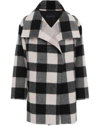 French Connection - Jackie Checked Coat - Lyst
