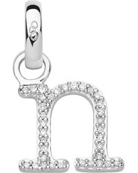 Links of London - Sterling Silver & Diamond N Alphabet Charm - Lyst