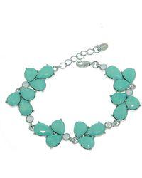 Monet - Silver Opal Teardrop Link Bracelet - Lyst