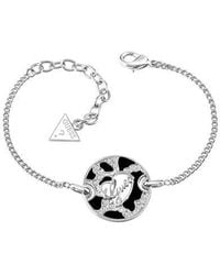 Guess | Rhodium Plated Bracelet | Lyst