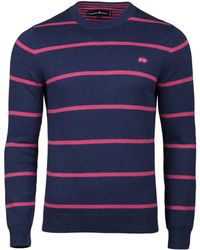 Raging Bull - Men's Big And Tall Crew Neck Striped Sweater - Lyst