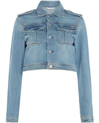 Guess - Cropped Utility Denim Jacket - Lyst
