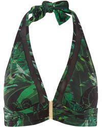Biba - Icon Dark Jungle Mesh Bikini Top - Lyst