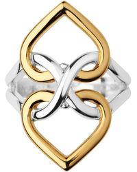 Links of London | Infinite Love Silver & Gold Vermeil Ring | Lyst