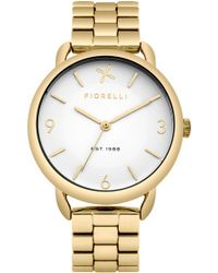 Fiorelli - Ladies Gold Tone Bracelet Watch - Lyst