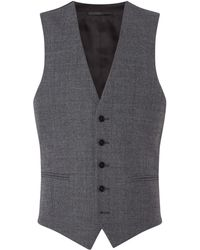 Kenneth Cole - Harry Textured Slim Fit Suit Waistcoat - Lyst