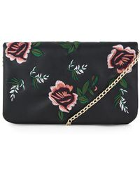 Warehouse - Embroidered Detail Crossbody - Lyst