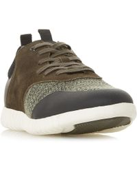 Dune - Turan Textured Lace Up Trainers - Lyst