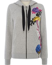 Sportmax Code - Carrara Floral Embroidered Hoody - Lyst