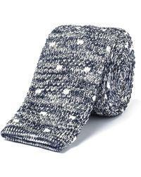 Gibson - Grey Spot Melange Knit Tie - Lyst