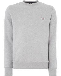 PS by Paul Smith - Men's Zebra Logo Organic Cotton Sweatshirt - Lyst