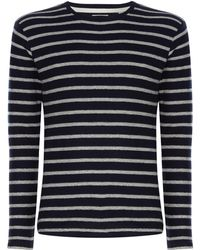 Only & Sons - Men's Marvin Striped Crew Neck - Lyst