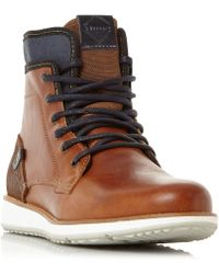 Dune - Cambus Collar Wedge Sole Boots - Lyst