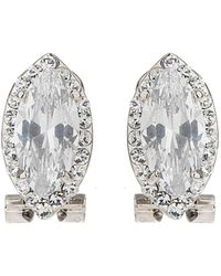 Mikey - Eclipse Stone Edged Stud Earring - Lyst