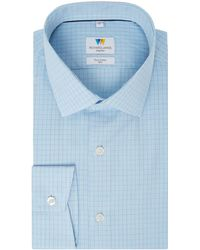 Richard James | Hairline Check Slim Fit Shirt | Lyst