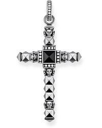 Thomas Sabo - Rebel At Heart Large Skulls & Studs Cross Pendant - Lyst
