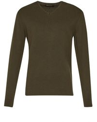 French Connection - Milano Front Cotton V Neck Jumper - Lyst
