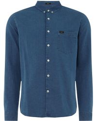 Lee Jeans - Men's Premium Slim Fit Medieval Blue Denim Shirt - Lyst