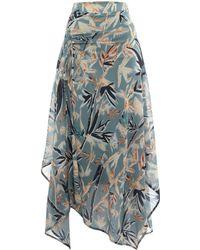 Label Lab - Bamboo Print Skirt - Lyst