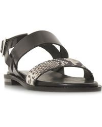 Dune Black - Leorra Slotted 2 Part Sandals - Lyst