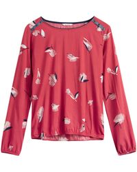 Sandwich - Printed Blouse With Shoulder Button Detail - Lyst