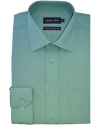 Double Two - Plain Poplin Long Sleeve Shirt - Lyst