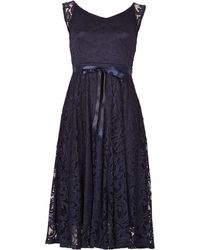 Izabel London - Lace Over Midi Dress - Lyst