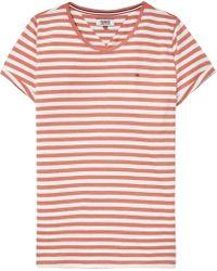 Tommy Hilfiger - Tommy Jeans Linen Blend Stripe T-shirt - Lyst
