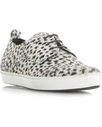 Dune Black - Frenche Pointed Lace Up Trainers - Lyst