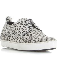 Dune Black | Frenche Pointed Lace Up Trainers | Lyst