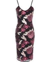 Jane Norman - Floral Sequin Strappy Dress - Lyst
