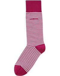 BOSS - Men's Marc Stripe Sock - Lyst