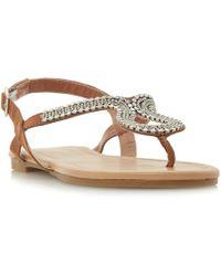 478e64a934e8db Dune - Kimmba Embellished Toepost Sandals - Lyst