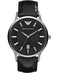 Emporio Armani - Ar2411 Mens Strap Watch - Lyst