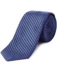 HUGO - Textured Square Tie - Lyst
