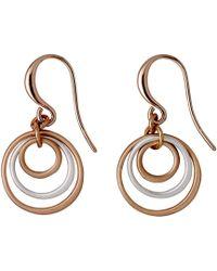 Pilgrim - Iona Rose Gold Plated Earrings - Lyst