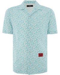 DIESEL - Men's Short Sleeve Thorn Print Shirt - Lyst